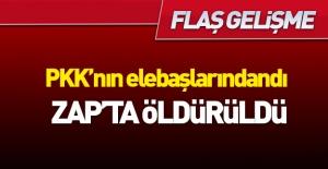 PKK'nın elebaşılarından olan terörist öldürüldü