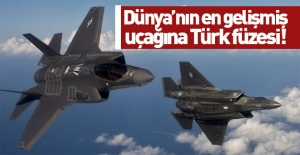 Dünyanın en gelişmiş uçağına Türk füzesi!