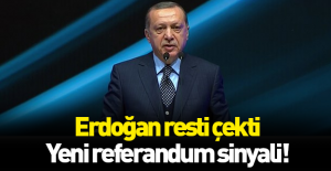 Erdoğan'dan flaş açıklama: Referandum yapabiliriz