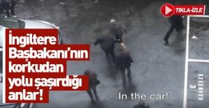 İngiltere Başbakanı May'in korku dolu anları kamerada