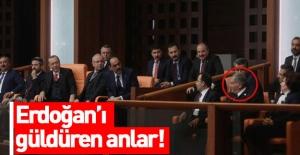 Erdoğan'ı gülümseten an!