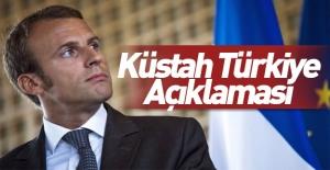 Macron#039;dan küstah Türkiye açıklaması