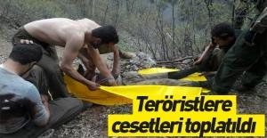 Tunceli'de teröristlere cesetleri toplatıldı