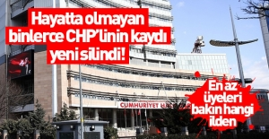 Yaşamayan binlerce CHP'linin kaydı silindi