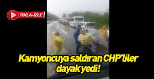 Şoföre saldıran CHP'liler dayak yedi! VİDEO İZLE