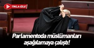 Mecliste islamofobik eylem