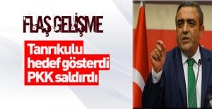 Tanrıkulu hedef gösterdi! PKK'lı teröristler saldırdı