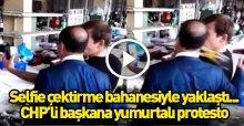 Edirne Belediye Başkanı'na yumurtalı yumruklu saldırı