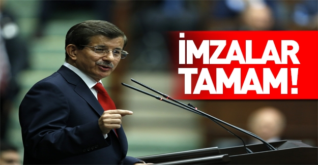 Ahmet Davutoğlu: Dokunulmazlıklar için imzalar toplandı