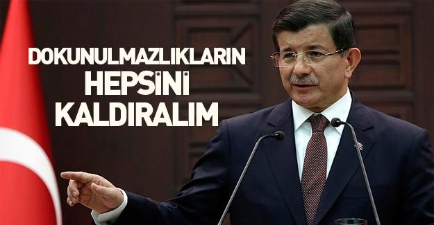 Ahmet Davutoğlu'ndan dokunulmazlıkları kaldıralım teklifi!