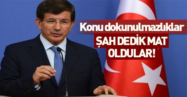 Ahmet Davutoğlu: Şah dedik mat oldular