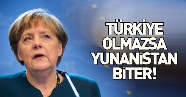 Angela Merkel: Türkiye olmazsa Yunanistan yükü kaldıramaz