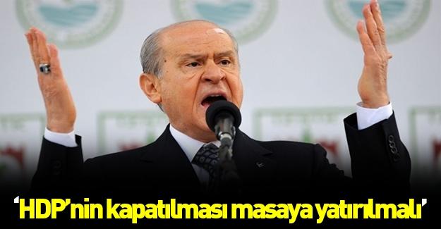 Bahçeli: HDP'lilerin fezlekeleri bekletilmemeli