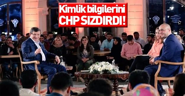 Davutoğlu: Kimlik bilgileri CHP sızdırdı!