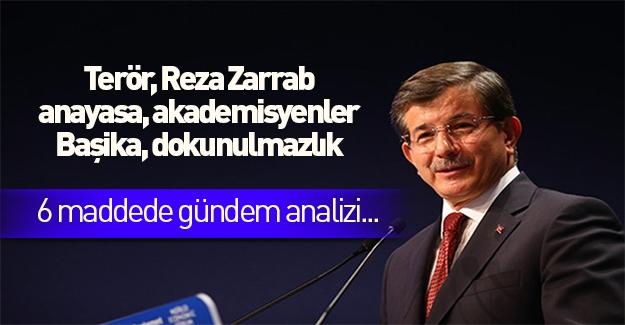 Davutoğlu'ndan gündeme dair 6 konuda açıklamalar