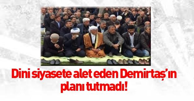 Demirtaş Cuma namazını Sümer Park'ta kıldı