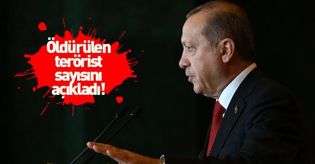 Erdoğan öldürülen terörist sayısını açıkladı!
