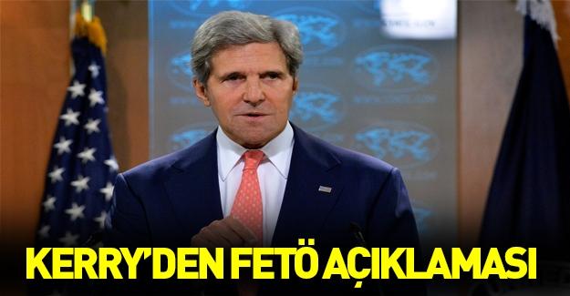 Kerry'den flaş FETÖ açıklaması