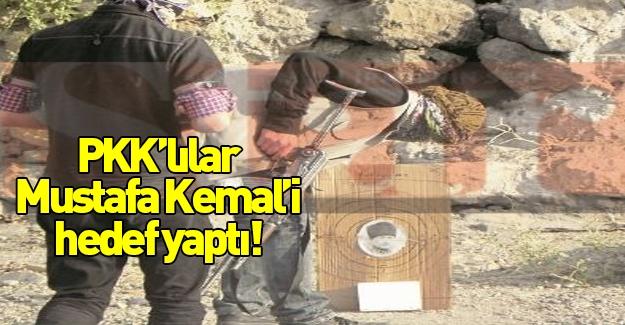 Keskin nişancı eğitiminde Atatürk'e ateş eden PKK'lılar