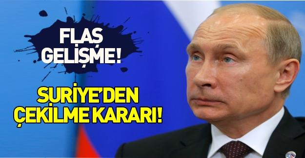 Putin'den flaş karar: Geri çekilin!