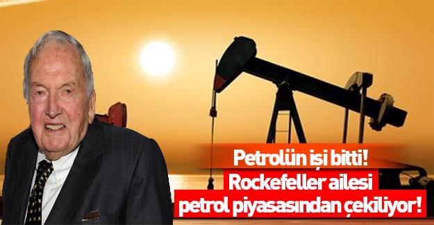 Rockefeller ailesi petrolden çekiliyor