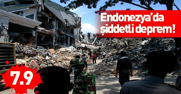 Son deprem Endonezya'yı vurdu şiddeti korkunç
