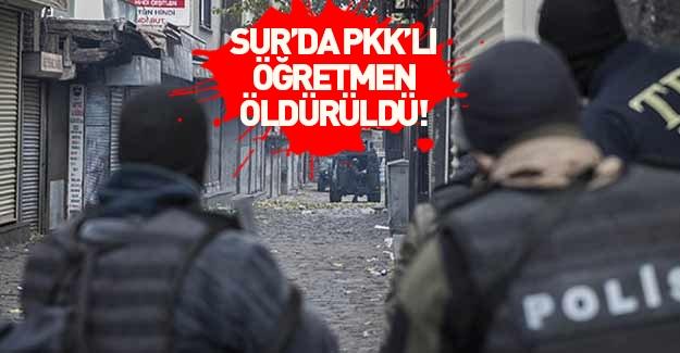 Sur'da PKK'lı öğretmen öldürüldü