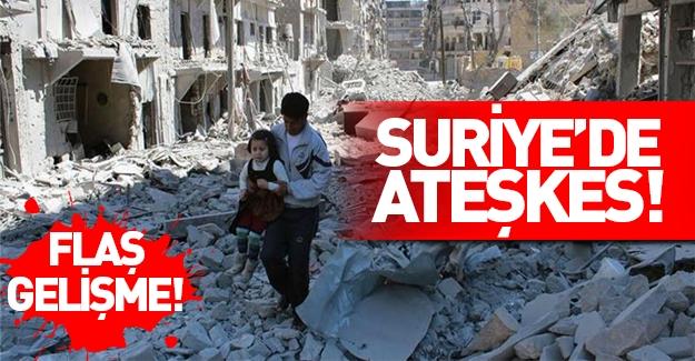 Suriye'de ateşkes anlaşması sağlandı