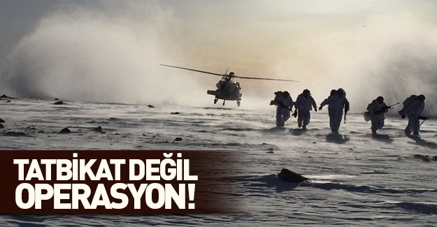 Tendürek Dağı'nda PKK operasyonu