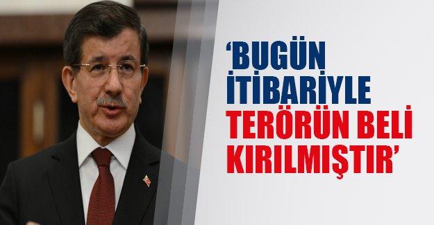 Başbakan 'terörün belinin kırılıdığını' söyledi!