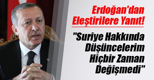 Cumhurbaşkanı Recep Tayyip Erdoğan'dan Suriye ve 'Esed' eleştirilerine yanıt!