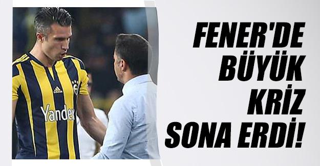Fenerbahçe'de Vitor Pereira - Robin Van Persie gerginliği sona erdi!