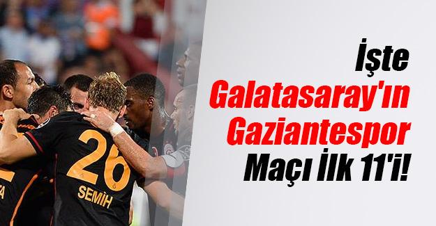 İşte Galatasaray'ın Gaziantespor maçı kadrosu! Galatasaray ilk 11 (muhtemel ilk 11) belli oldu...