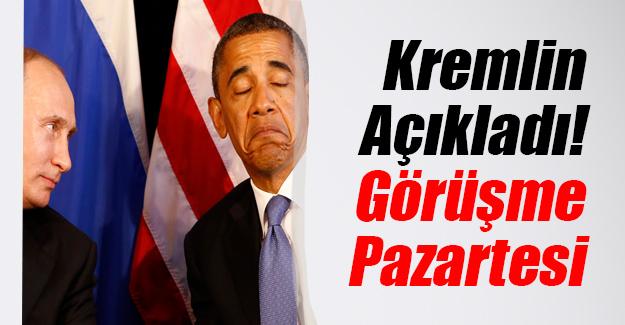 Kremlin'den flaş Vladimir Putin açıklaması! ABD Başkanı Barack Obama ile mi görüşecek?