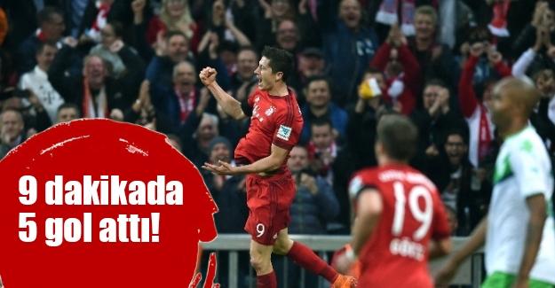 Lewandowski şov yaptı! 9 dakikada 5 gol attı