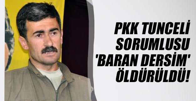 PKK'nın Tunceli sorumlusu 'Baran Dersim' kod adlı İsmail Aydemir öldürüldü!