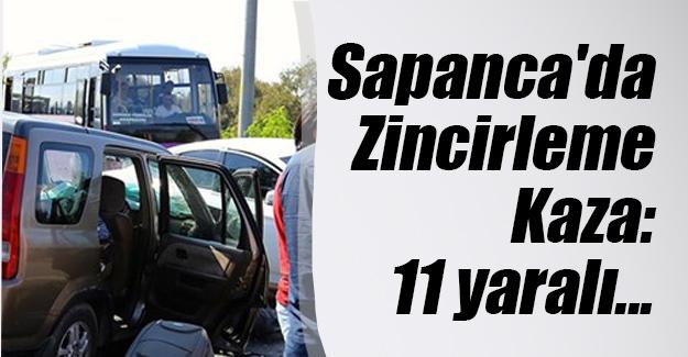 Sakarya'nın Sapanca ilçesinde zincirleme trafik kazası! 6'sı çocuk 11 yaralı var...