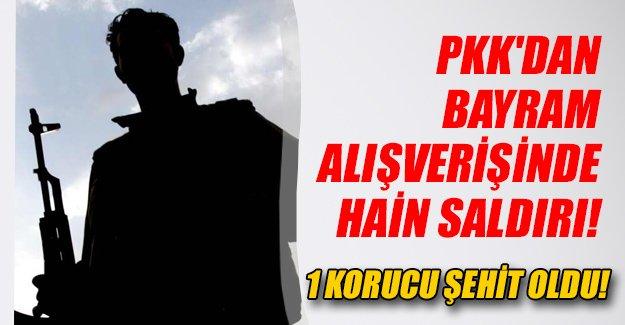 Şırnak'ın Silopi ilçesinde bayram alışverişine koruculara PKK saldırısı! 1 korucu şehit oldu...