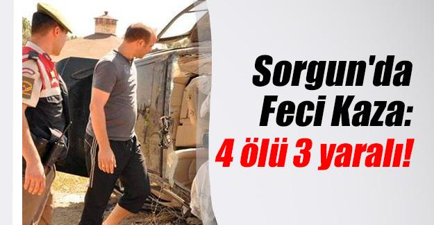 Yozgat'ın Sorgun ilçesinde katliam gibi trafik kazası! 4 ölü 3 yaralı var...