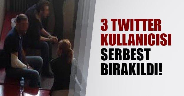 3 twitter şüphelisi serbest bırakıldı!