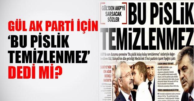 Abdullah Gül yeni parti mi kuruyor? Gül AK Parti için neler söyledi?