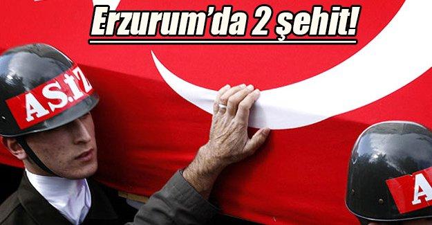 Acı haber Erzurum'dan geldi: 2 şehit!