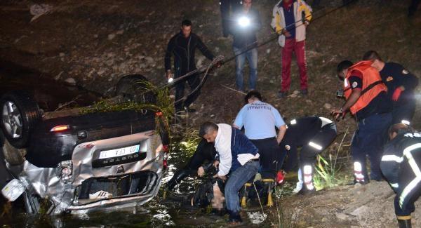 Adana'da korkunç kaza! Otomobil Seyhan Baraj Gölü'ne uçtu! Ölüler var...