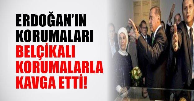 Belçika'da gergin anlar! Erdoğan'ın korumalarıyla Belçika güvenlik güçleri birbirine girdi