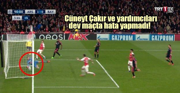 Cüneyt Çakır ve yardımcıları dev maçta hata yapmadı! Arsenal: 2 Bayern Münih: 0
