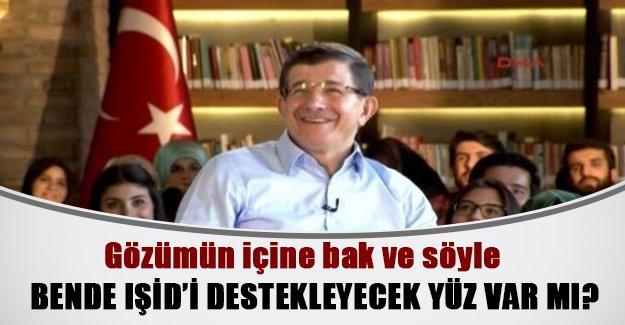"""Davutoğlu'ndan """"IŞİD'i destekliyor musunuz"""" sorusuna ilginç cevap!"""