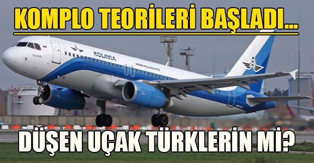 Düşen uçak Türklerin mi? Komplo teorileri başladı...