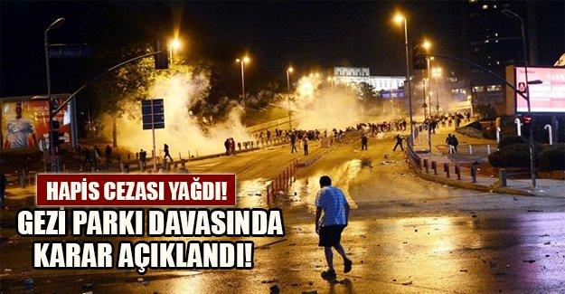 Gezi Parkı davasında karar açıklandı! Sanıklara hapis cezası yağdı