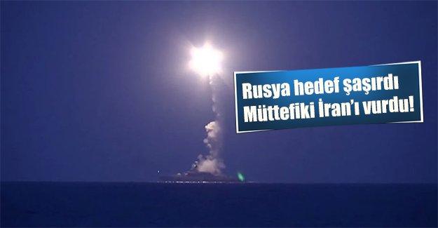 Rusya kendi müttefikini vurdu! İran topraklarına 4 füze yolladı...