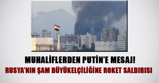 Rusya'ya misilleme! Muhalifler Rusya büyükelçiliğini vurdu